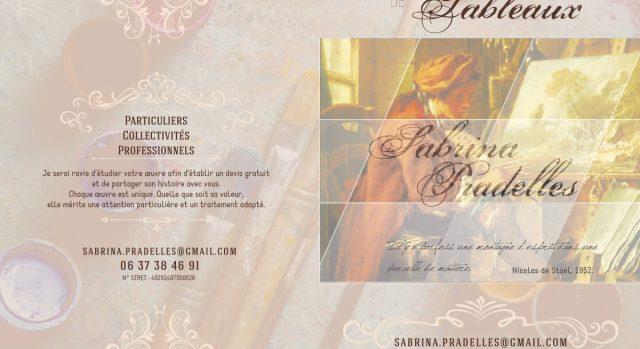 Cartons de présentation Sabrina Pradelles