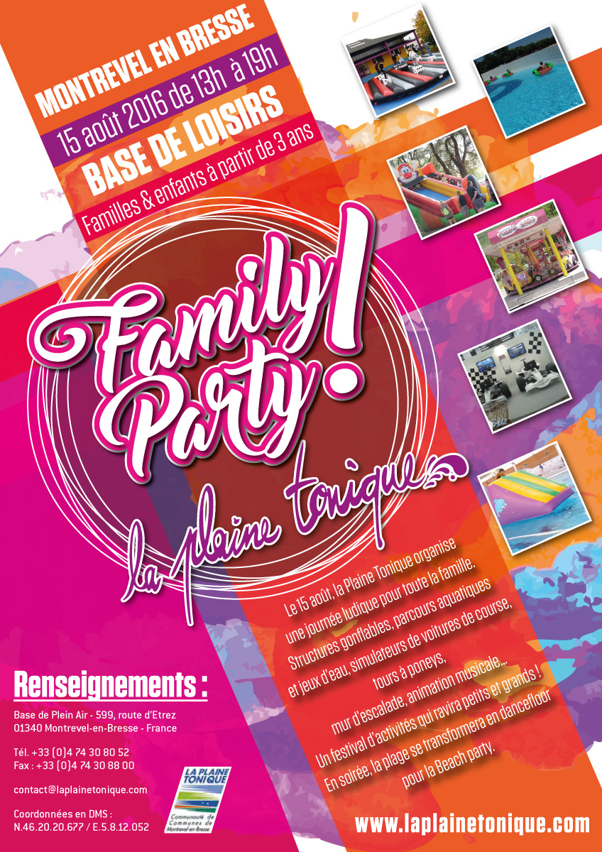Affiche Family Party – 2016 Plaine Tonic